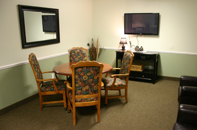 Stow-Glen Retirement Village Nursing home Family dining room
