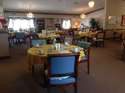 Stow-Glen Retirement Village Assisted Living Dining Room